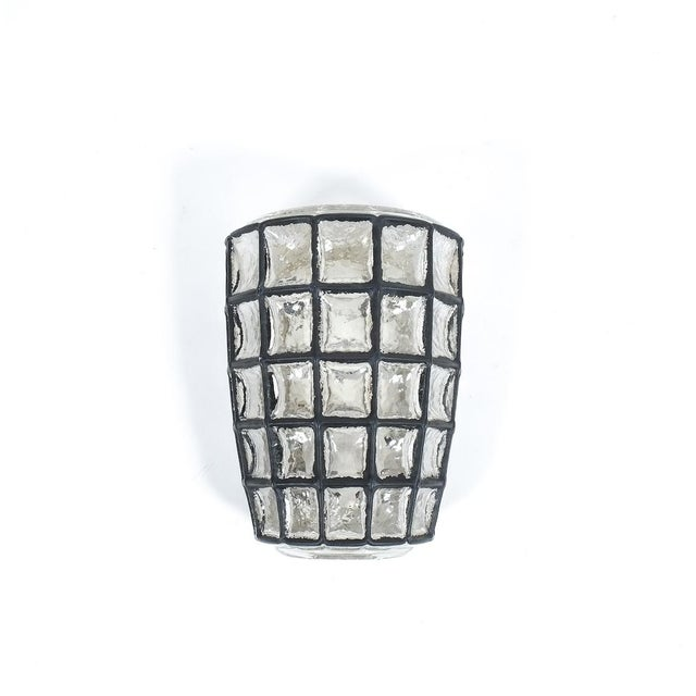 Mid-Century Modern Iron and Glass Sconces Wall Lamps by Limburg, 1960 For Sale - Image 3 of 6
