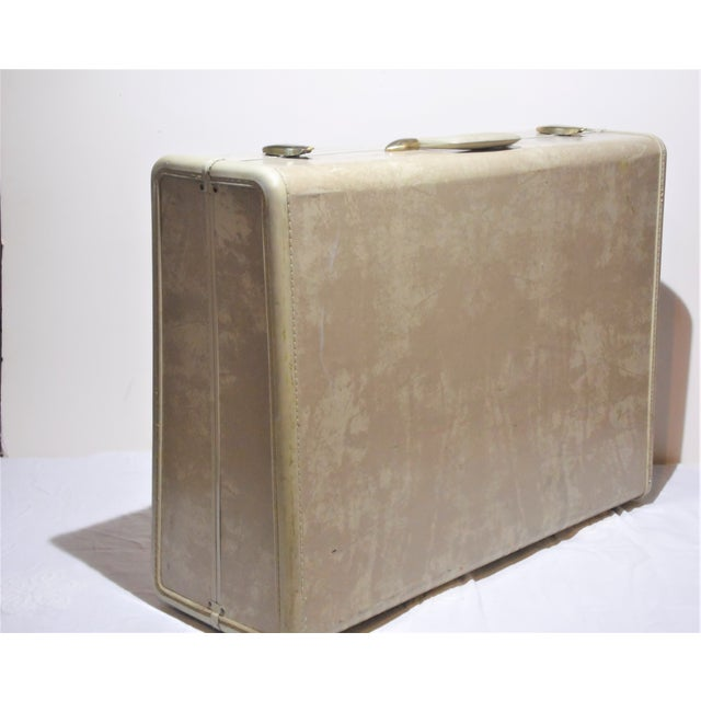Vintage Samsonite Large Cream Hard Shell Suitcase - Image 2 of 7