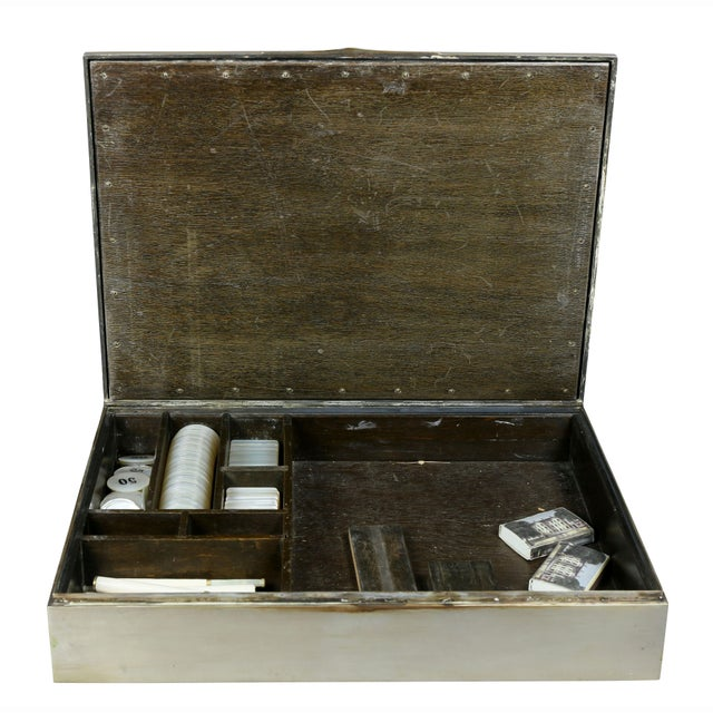 European Silver Box Containing Mother-Of-Pearl Counter Chips For Sale In Boston - Image 6 of 13