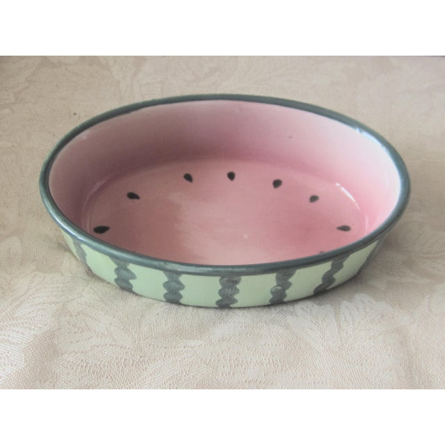 Vintage Mid Century Watermelon Casserole Bowl For Sale - Image 4 of 4