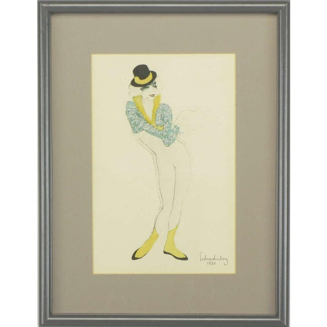 """Early 20th Century Set Three Walter Schnackenberg (1880-1961) """"Ballet Und Pantomime"""" Tinted Prints For Sale - Image 5 of 9"""