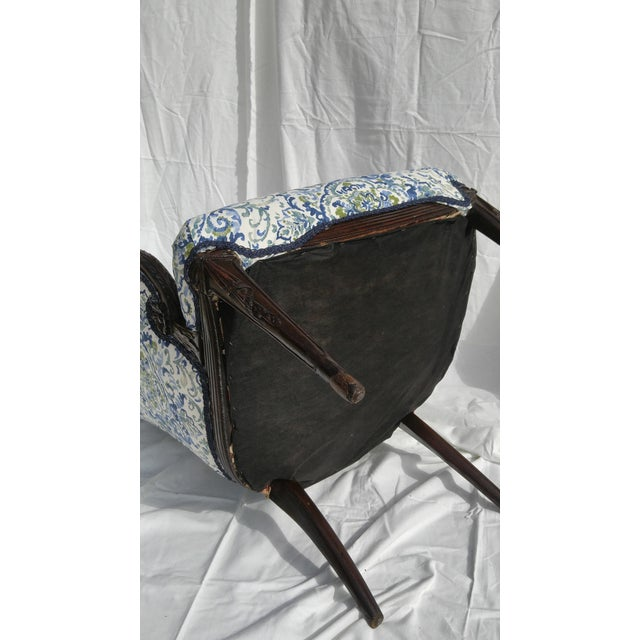 Transitional Antique Wooden Arm Chair - Image 8 of 11