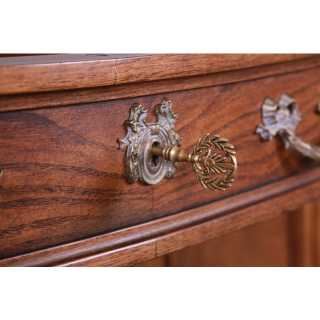 Karges French Louis XVI Style Walnut and Burl Wood Sideboard / Bar Cabinet For Sale - Image 11 of 13
