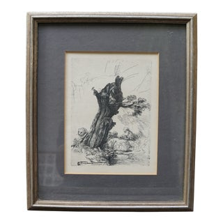 Rembrandt Van Rijn Framed Etching Print For Sale