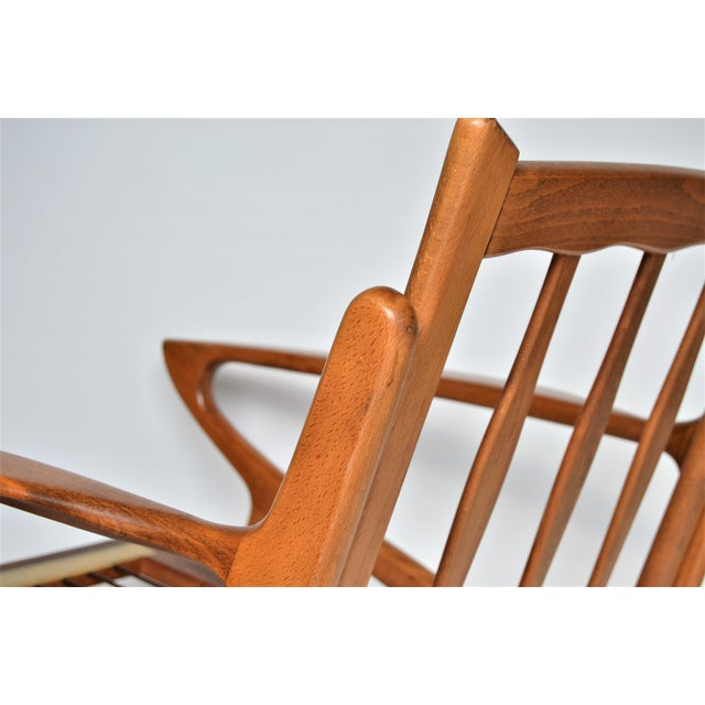 Mid Century Danish Modern Solid Teak Selig Style Lounge Chair Inspired by Poul Jensen or Ib Kofod-Larsen - Image 9 of 12