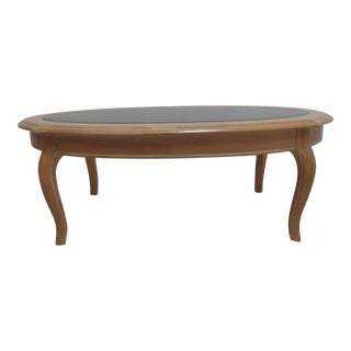 Ethan Allen Country French Oval Bisque Coffee Table For Sale