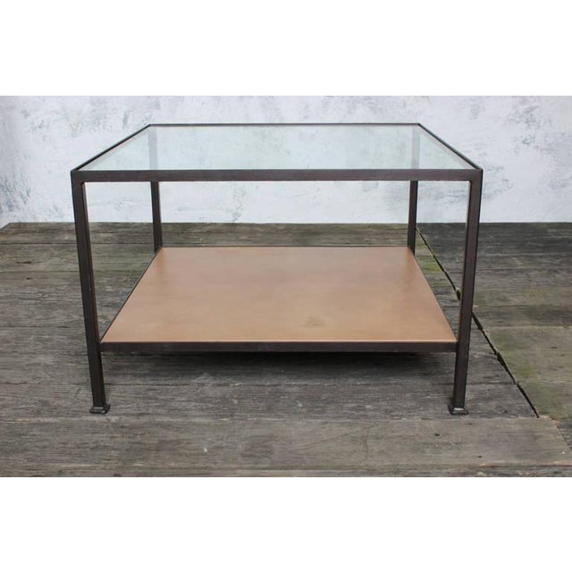 Contemporary Custom-Made Marcelo Coffee Table with Clear Glass Top For Sale - Image 3 of 9