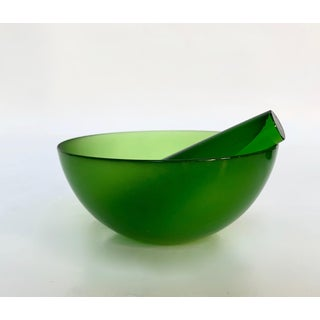Vintage Minimalist Green Glass Mortar and Pestle - 2 Pieces Preview