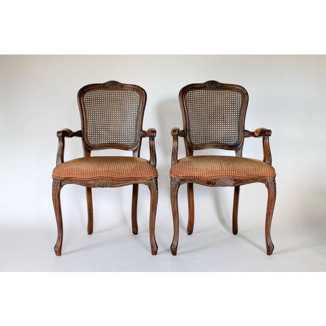 Caned Fauteuils, a Pair For Sale - Image 10 of 10