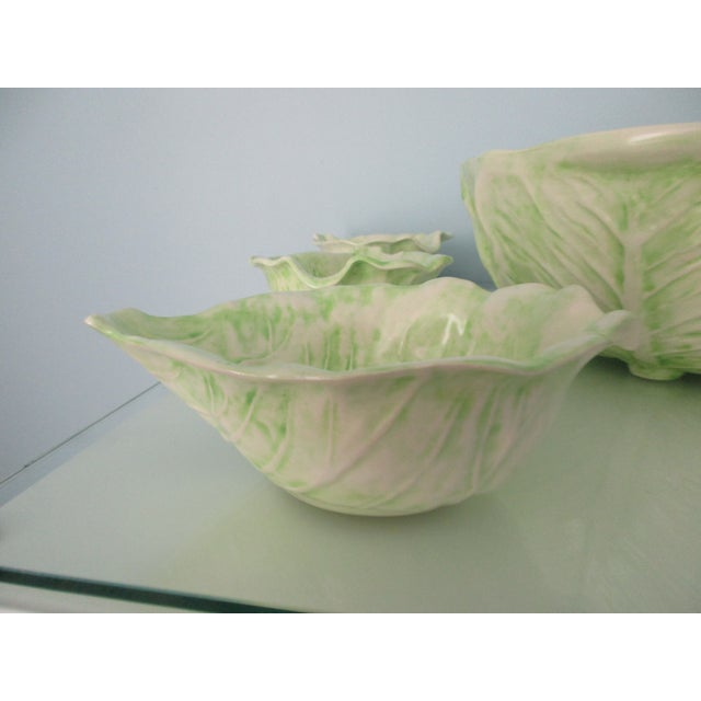 Boho Chic 1970s Cabbage Ware - Set of 7 For Sale - Image 3 of 12