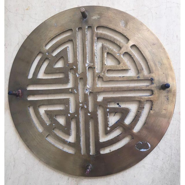 Mid-Century Modern Asian Antique Brass Trivet - Image 2 of 4