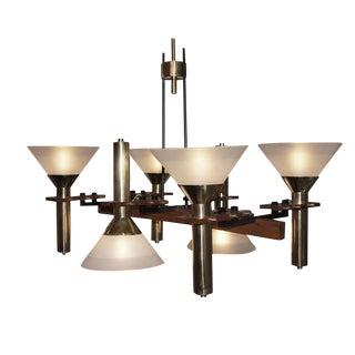 Six-Light Stilnovo Chandelier For Sale