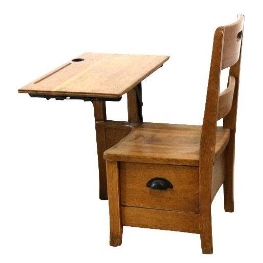 1900s Sliding Top School Desk - Image 1 of 7
