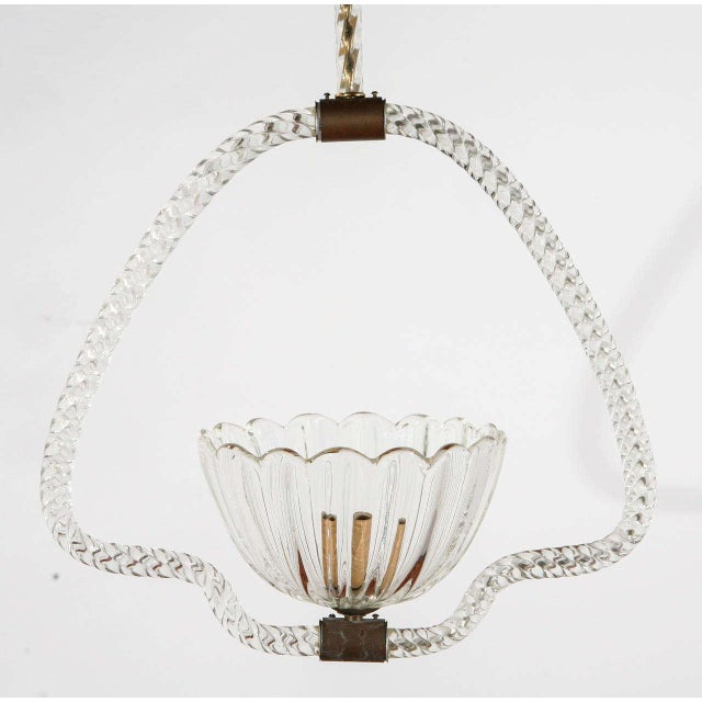 1940s Murano Fixture by Barovier E Toso For Sale - Image 5 of 9