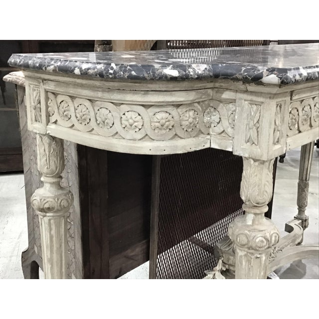 White 19th Century Louis XVI Style Console Table For Sale - Image 8 of 12