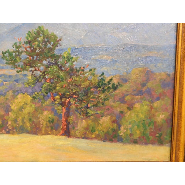 """Gold Edward Walker Oil Painting on Canvas """"Mt. Moosalamoo, Green Mountains North of Brandon"""" For Sale - Image 8 of 13"""