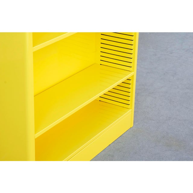 Not Yet Made - Made To Order 1960s Steel Tanker Style Bookcase in Yellow, Custom Refinished to Order For Sale - Image 5 of 8