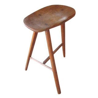 Wharton Esherick-Style Oak Stool For Sale
