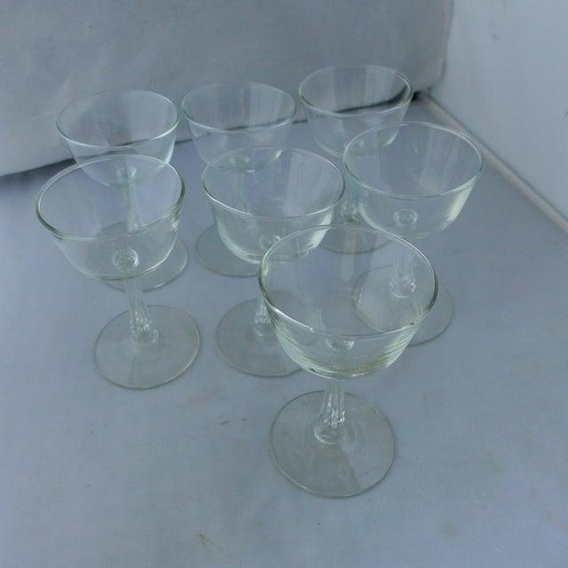 Art Deco Style Midcentury Wine Glasses Set Of 7 Chairish