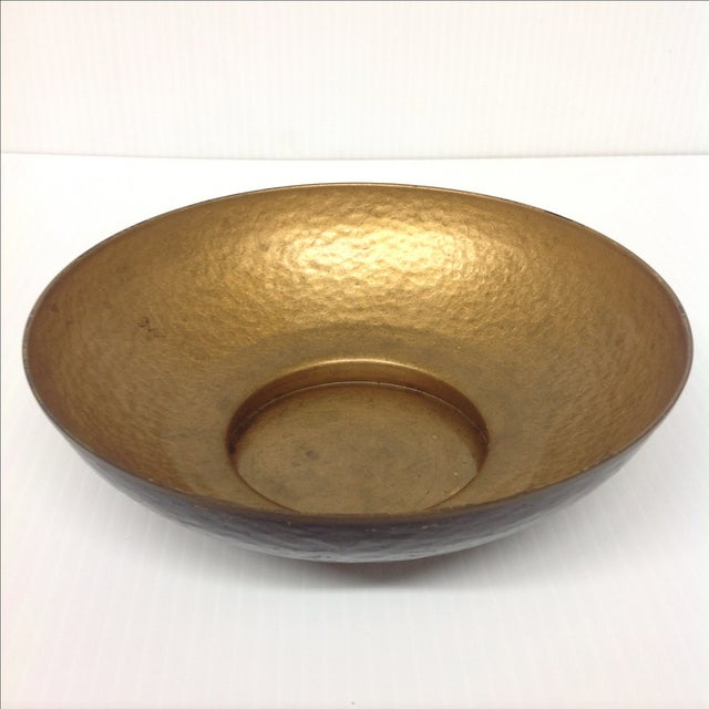 Add a touch of easy, boho style to your space with this handmade Oppenheim Israel enameled brass bowl. A note from the...