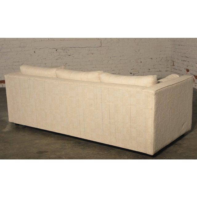 Mid-Century White Tuxedo Style Sleeper Sofa - Image 4 of 7