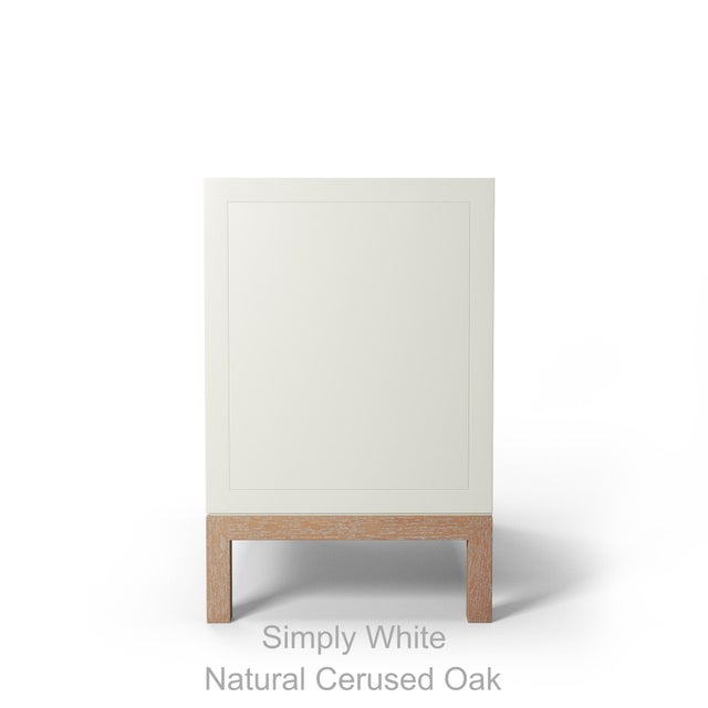 Susana Side Table - Simply White, Natural Cerused Oak For Sale - Image 4 of 5