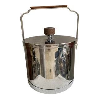 Atapco Inox Stainless Steel Teak Ice Cooler Bucket For Sale