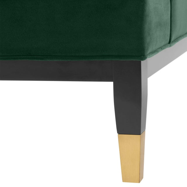 Green Green Tufted Cube Chair | Eichholtz Castelle For Sale - Image 8 of 9