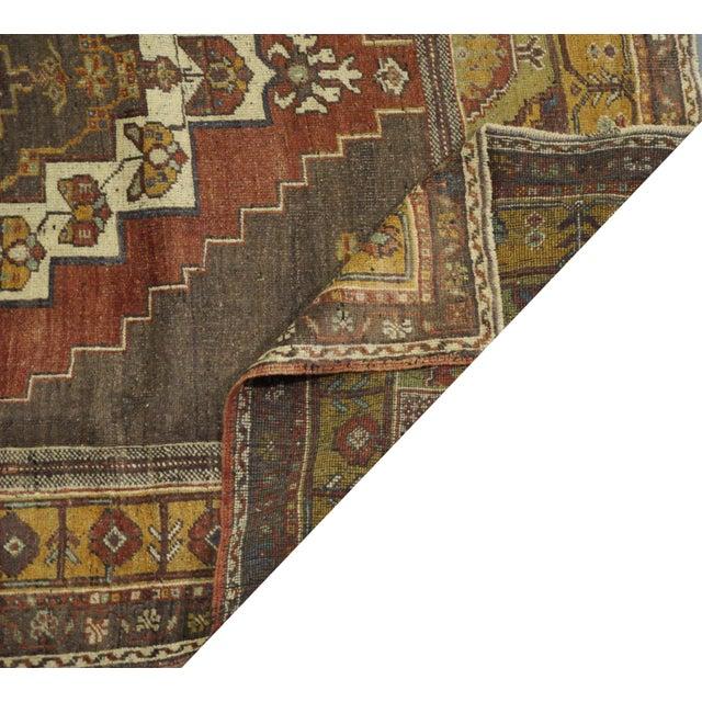 Vintage Turkish Oushak Rug - 5'4''x8'9'' For Sale - Image 4 of 4