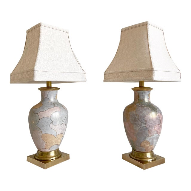 1960s Frederick Cooper Lamps & Shades - a Pair For Sale