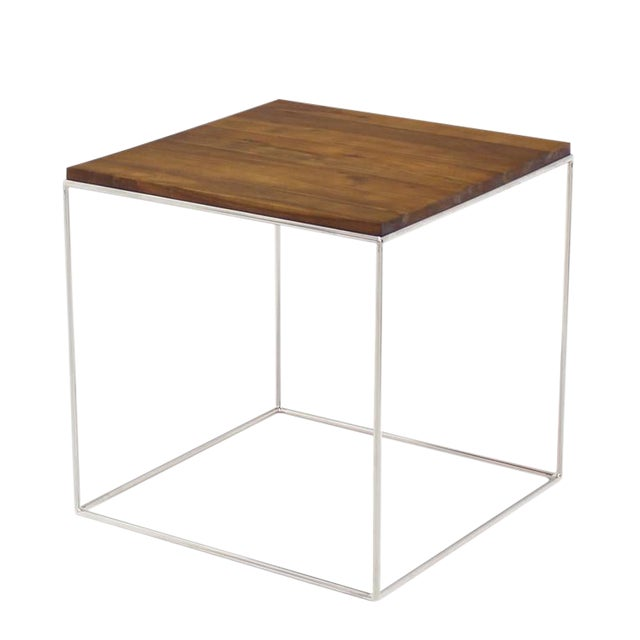 Chrome Cube Nesting End Side Table For Sale