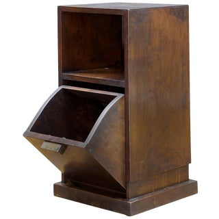 Boris LaCroix Style French Art Deco Bedside Cabinet Nightstand With Nickel Pull For Sale