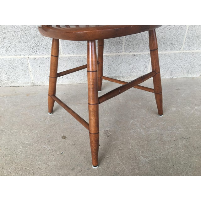 Brown L. Hitchcock Maple Harvest Stonington Windsor Side Chairs - Set of 4 For Sale - Image 8 of 11