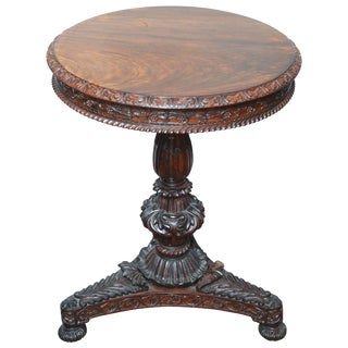 Superb British Colonial Ceylonese Tilt-Top Table