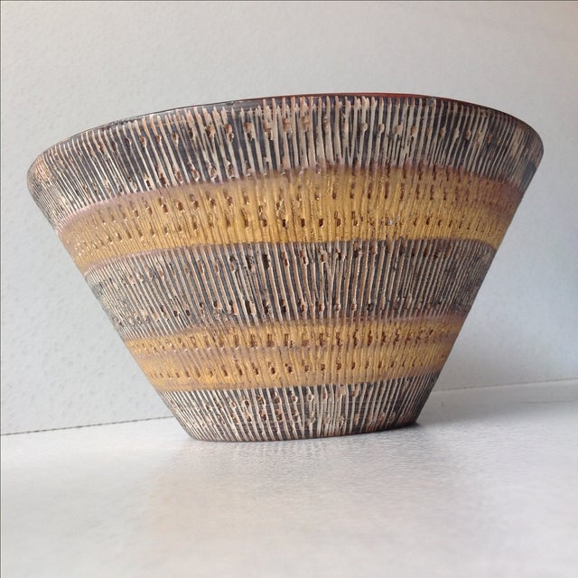 Aldo Londi Bitossi Black And Gold Pottery Bowl - Image 5 of 11
