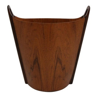 Mid Century Danish Rosewood Wastebasket Trash Bin by Einar Barnes for p.s. Heggen