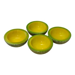 Mid-Century Modern Holt Howard Melon Bowls - Set of 4 For Sale