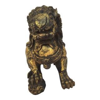 Caste Iron Gold Leafed Foo Dog