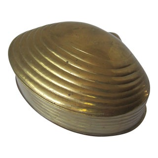 Brass Scallop Shell Box For Sale