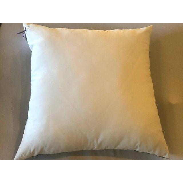 Enormous Hollywood Regency Style Hermes 'Parmi Les Fleurs' Silk Stuffed Pillow For Sale - Image 10 of 11