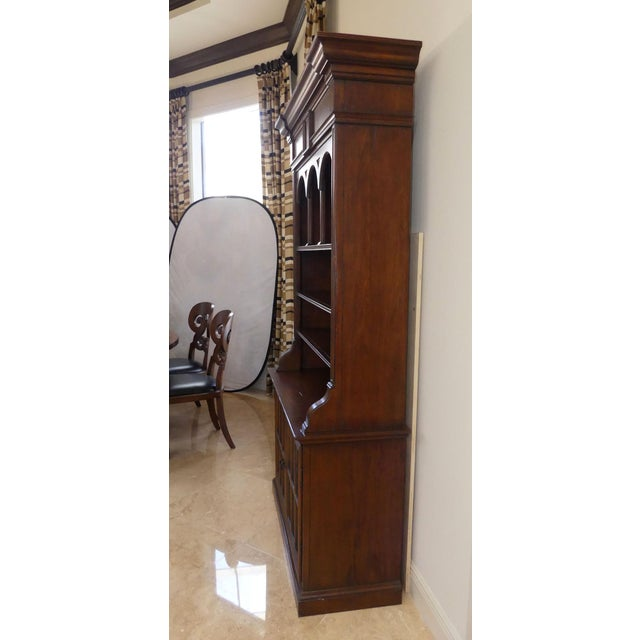 Brown Hekman Display Cabinet Bookcase Hutch For Sale - Image 8 of 13