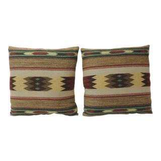 Pair of Antique Textiles Tribal Decorative Pillows For Sale
