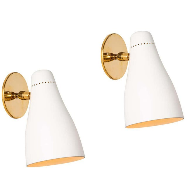 1950s Gino Sarfatti Perforated Cone Sconces for Arteluce - a Pair For Sale - Image 13 of 13