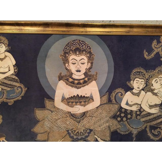 Framed Cultural Theme Indonesian Batik Artwork - Image 7 of 11