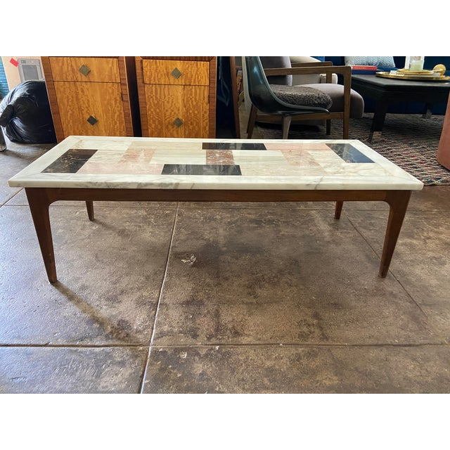 Mid-Century Modern Italian Modern Pietra Dura Marble Specimen Coffee Table For Sale - Image 3 of 10