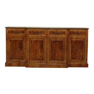 Bevan Funnel English Burl Walnut Sideboard For Sale