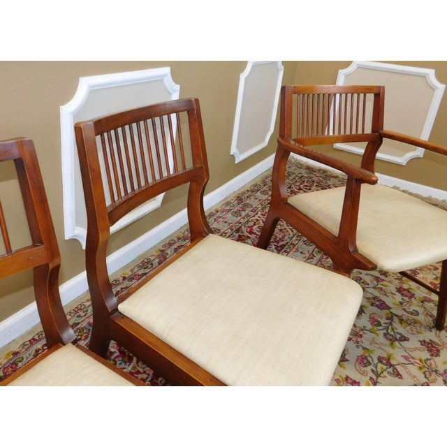 Vintage Lane Furniture Walnut Dining Chairs - Set of 4 - Image 6 of 11
