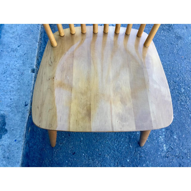 Ethan Allen High Comb Spindle Back Chair For Sale - Image 9 of 11