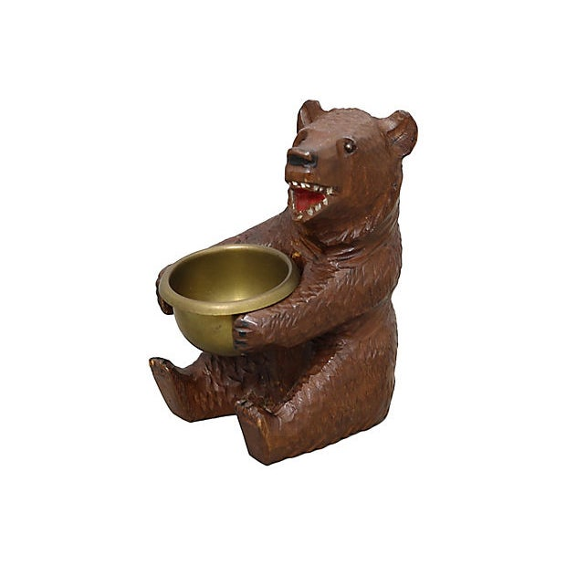 Antique Black Forest Bear Ashtray For Sale - Image 4 of 4