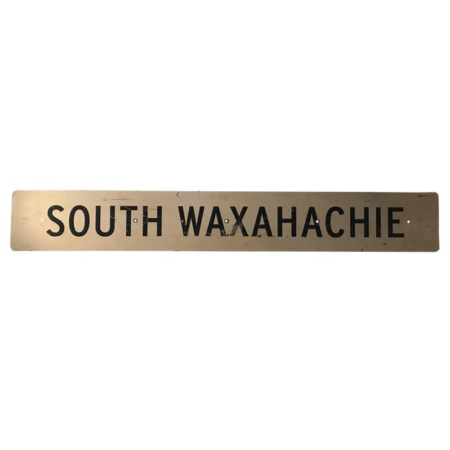 Large Vintage Industrial Metal South Waxahachie, Texas Sign - Image 8 of 8